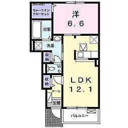 徳島県徳島市鮎喰町2丁目の賃貸アパートの間取り
