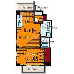 ビーカーサ南砂[4階]の間取り