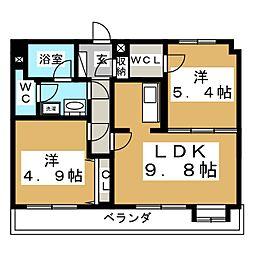 ダンデェリオン[4階]の間取り