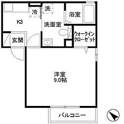 グレイス鎌倉C[1階]の間取り