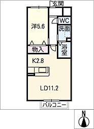 ウエルス岩倉II[1階]の間取り