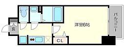 プレサンス新大阪ストリーム 7階1Kの間取り
