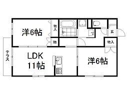 MY Lanai 1階2LDKの間取り