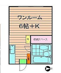 東京都江戸川区中葛西2の賃貸マンションの間取り
