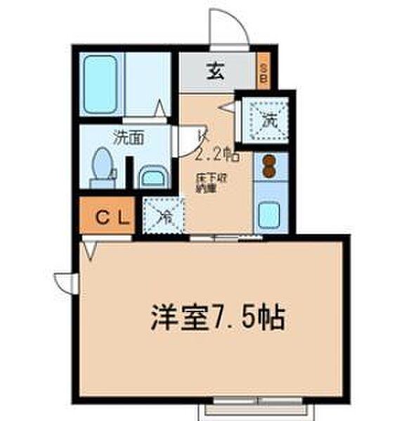 東京都足立区千住元町の賃貸アパートの間取り