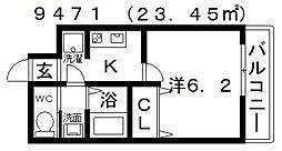 ARATA松原天美東(アラタ松原天美東)[1階]の間取り