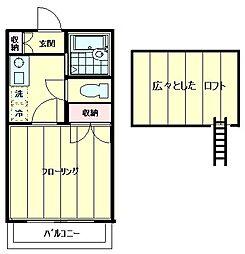 第2小金井サニーハイツ[205号室]の間取り