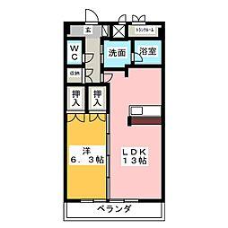 グラン・アベニュー名駅[7階]の間取り