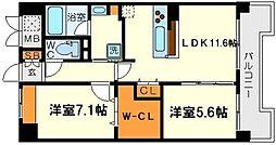 ア・ミュゼ新大阪[7階]の間取り