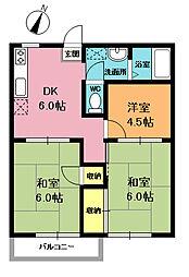 シティコーポ八木[2階]の間取り