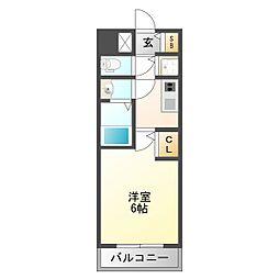 阪急神戸本線 十三駅 徒歩5分の賃貸マンション 4階1Kの間取り