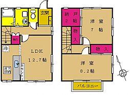 [タウンハウス] 東京都町田市金森6丁目 の賃貸【東京都 / 町田市】の間取り