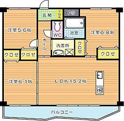 KSK中須コアプレイス[5階]の間取り