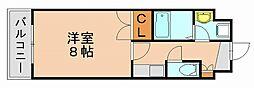 オリンピア竹下[8階]の間取り