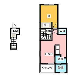 ラポール星崎II[2階]の間取り