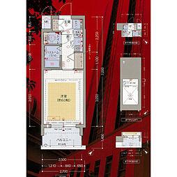エステムコート難波WEST-SIDE大阪ドーム前[1002号室]の間取り