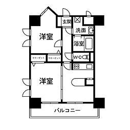 フレックス21博多II[4階]の間取り