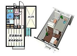 東京都江戸川区瑞江1丁目の賃貸アパートの間取り