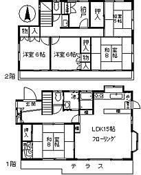 [一戸建] 東京都目黒区南2丁目 の賃貸【/】の間取り