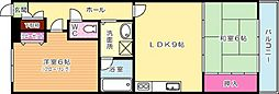 クレセント百花苑III[203号室]の間取り