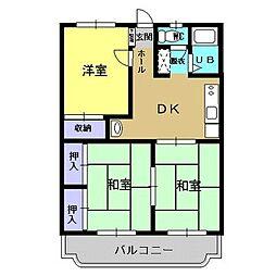 熊本県熊本市南区田迎3丁目の賃貸マンションの間取り