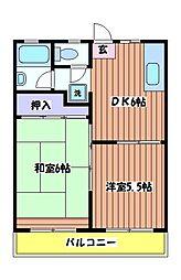 レジデンスベリールA[1階]の間取り