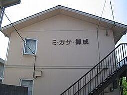 岡山県岡山市中区御成町の賃貸アパートの外観