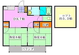 エクセル東船橋A棟[202号室]の間取り