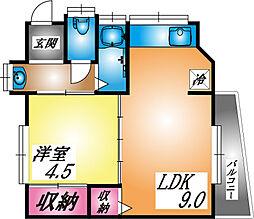 兵庫県神戸市東灘区御影本町4丁目の賃貸アパートの間取り