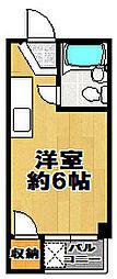 ハイツ三軒家[4階]の間取り