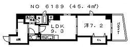 プレーリー四天王寺[5階]の間取り