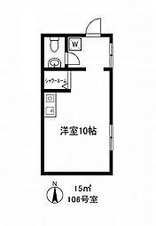 東京都世田谷区深沢4丁目の賃貸アパートの間取り