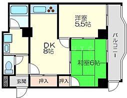 瑞光ダイヤモンドマンション[9階]の間取り