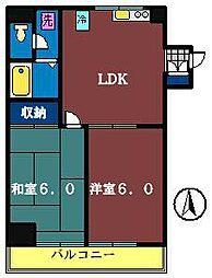 レックスマンション[401号室]の間取り