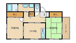 コンフォート高田[1階]の間取り