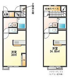 兵庫県姫路市勝原区山戸の賃貸アパートの間取り