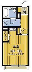 東京都府中市矢崎町2丁目の賃貸アパートの間取り