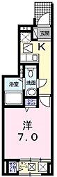 エクセル ウィステリアB[0101号室]の間取り