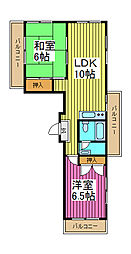 エルサリオ川口[1階]の間取り