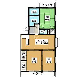 ラ・カシタ・グリスII[2階]の間取り