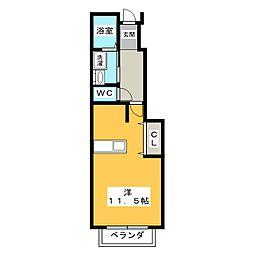 セレノA[1階]の間取り
