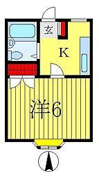 コーポ88[2階]の間取り