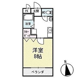 メゾン・ド・フルール2 1階[102号室]の間取り