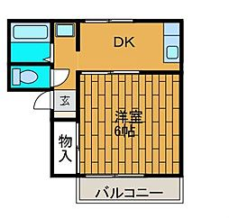 セジュール相生[2階]の間取り