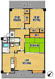 アミル21・ライラック館[107号室]の間取り