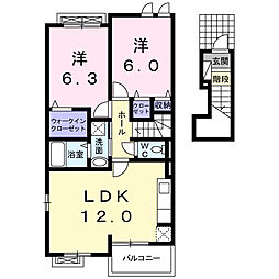 サン・スカイM III[2階]の間取り