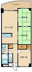 美杜里ハイムII[4階]の間取り