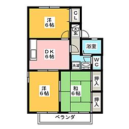 Dwell ハヤシ[2階]の間取り