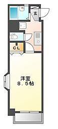 X-OVER21覚王山[4階]の間取り