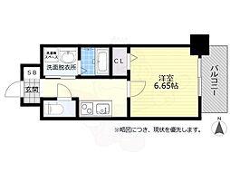 名鉄名古屋本線 金山駅 徒歩8分の賃貸マンション 2階1Kの間取り